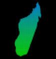 halftone madagascar island map vector image vector image
