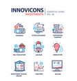 investments - modern line design icons set vector image vector image