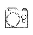 isolated cute camera vector image vector image