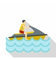 Jet ski rider icon flat style vector image vector image