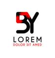 letter black logo with gradient arrow vector image vector image