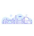 london skyline england uk city buildings vector image vector image