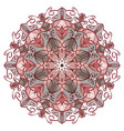 mandala in pastel colors for backgrounds logos vector image