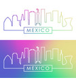 mexico skyline colorful linear style editable vector image vector image