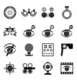 Optometry icon set vector image vector image