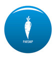 parsnip icon blue vector image