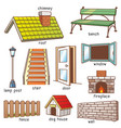 parts of house vector image vector image