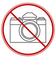 photographing forbid symbol vector image vector image