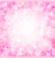 pink background with hearts for valentines day vector image vector image