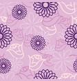 pink hidden flower seamless pattern background vector image