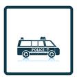 Police van icon vector image vector image