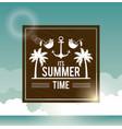 poster sky ocean landscape of logo text summer vector image vector image
