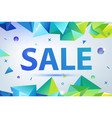promo sale poster banner eometric facet vector image vector image
