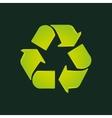 recycle symbol eco design vector image vector image