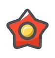 red communism soviet star icon cartoon vector image