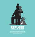 refugees evacuee symbol vector image vector image