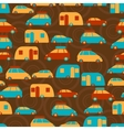 Retro seamless travel pattern of cars vector image vector image