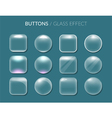 Round and square buttons vector image