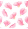 seamless pattern falling rose petals vector image vector image