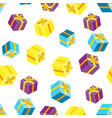seamless pattern with packages gifts vector image