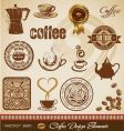 Set coffee design elements vector | Price: 3 Credits (USD $3)