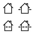 set icons construction home repair outdoor and vector image
