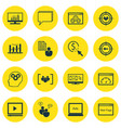 set of 16 seo icons includes conference focus vector image vector image