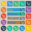 Shopping cart icon sign Set of twenty colored flat vector image