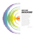 sound wave background rainbow music logo vector image vector image