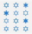 star of david set vector image