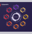 stylish colorful infographic circle chart vector image vector image