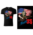 t-shirt design with rock guitarist vector image