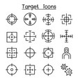 target icon set in thin line style vector image vector image