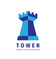 tower protection - logo concept vector image