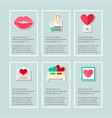 valentines day greetings card set vector image