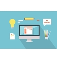 Web Design Conceptual in Flat Style vector image vector image
