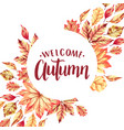 welcome autumn frame vector image vector image