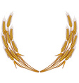 Wheat wreath isolated on white background vector image