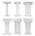 white podium tribune rostrum stands on white vector image vector image