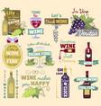 wine vintage logo badge vector image vector image