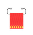 red towel on metal holder vector image