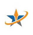 A Star Logo vector image vector image