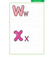 abc alphabet letters tracing worksheet vector image vector image