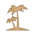 abstract island icon image vector image vector image