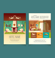 advertising leaflet with hotel service list vector image vector image