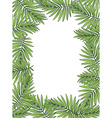 aloha hawaii palm leaves on white background vector image vector image