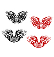 bikers tattoos with flames vector image