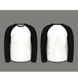Black raglan sweatshirt long sleeve vector image vector image