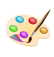 brush color vector image vector image