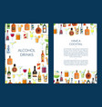 card or brochure template for bar with vector image